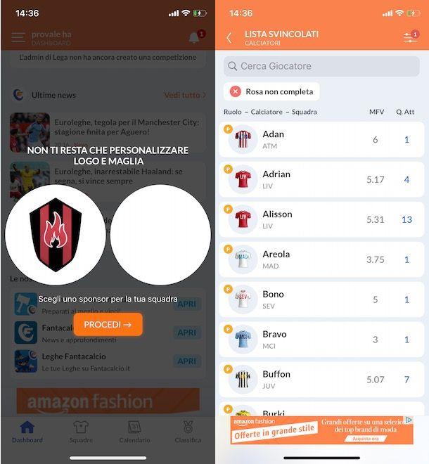 App per fantacalcio Bundesliga