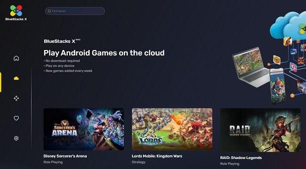 BlueStacks X Miglior emulatore Android leggero