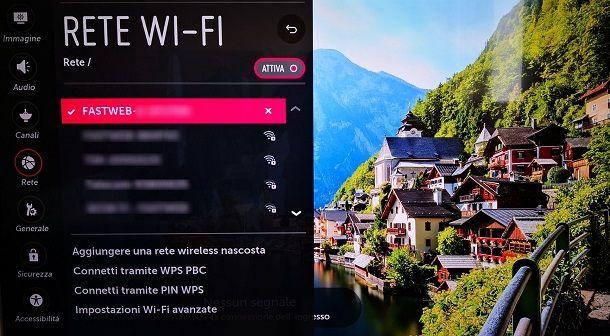 Collegare Smart TV in WiFi