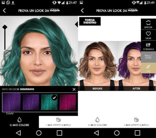 Cambio colore di capelli online