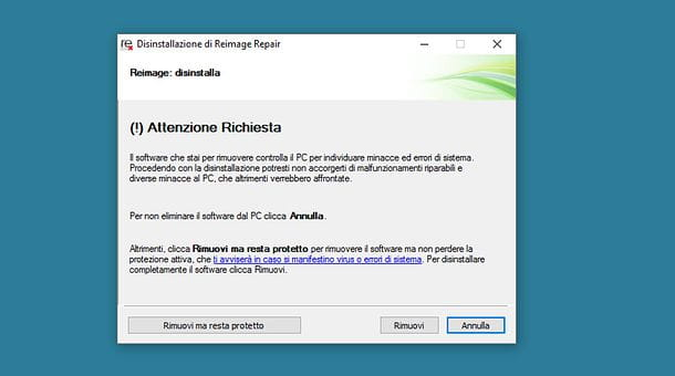 Come eliminare Reimage Repair