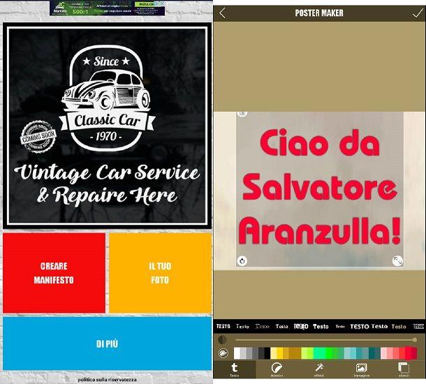 App per creare locandine salvatore aranzulla for Creatore di progetti online gratuito