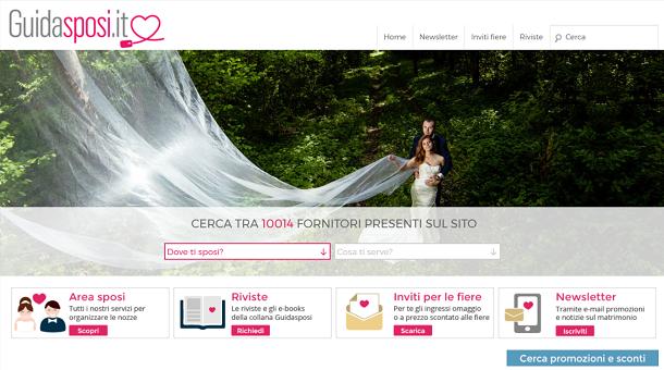 c46e1be1182 Tra i siti Internet che ti consiglio di utilizzare per organizzare il tuo  matrimonio vi è il sito Web Guidasposi.it che si configura come un  interessante ...