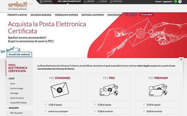 Fare la posta elettronica certificata Aruba