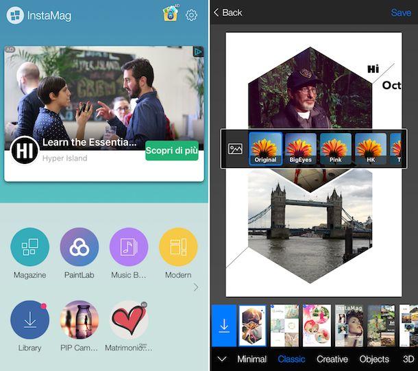 App per collage