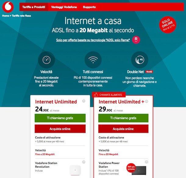 Come verificare copertura ADSL Vodafone