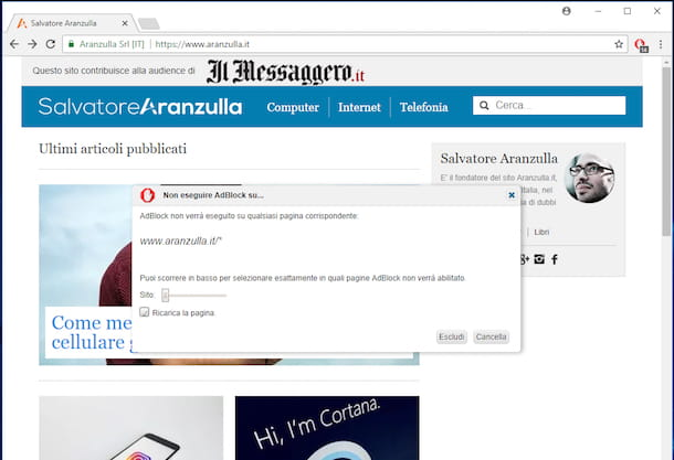 Come disabilitare AdBlock