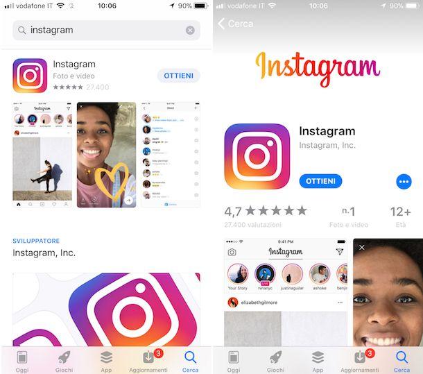 Come installare Instagram