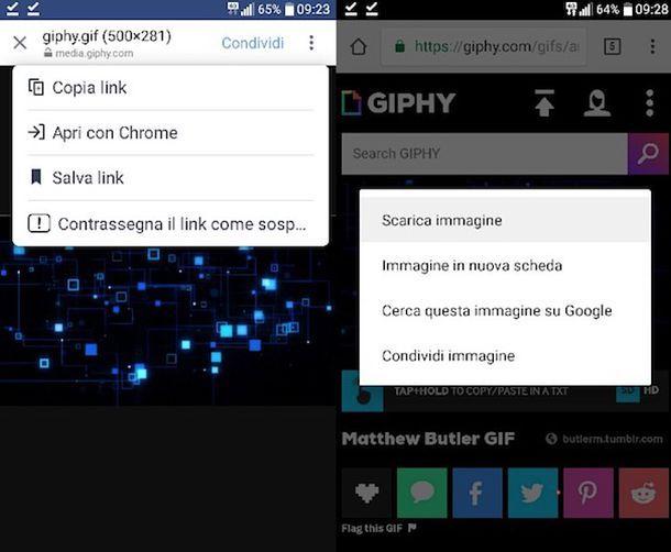 Come salvare GIF su Android