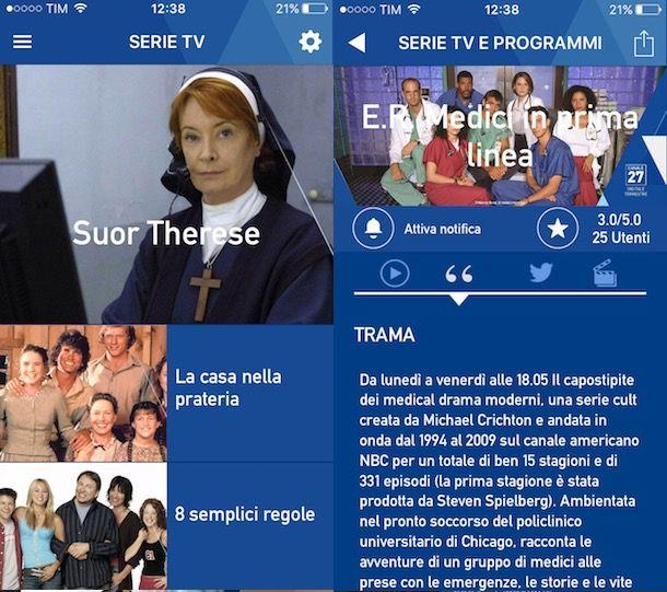 app per scaricare serie tv su iphone gratis