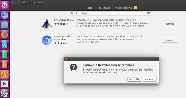 Come disinstallare Chromium