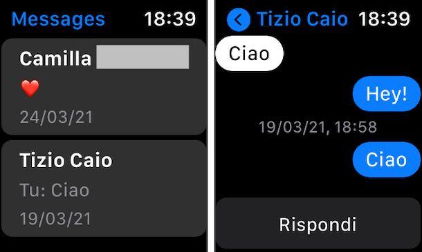 Facebook Messenger app Apple Watch