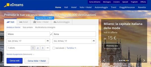 211848e010f1 Tra i siti Internet che ti suggerisco di utilizzare per cercare voli low  cost vi è sicuramente Edreams