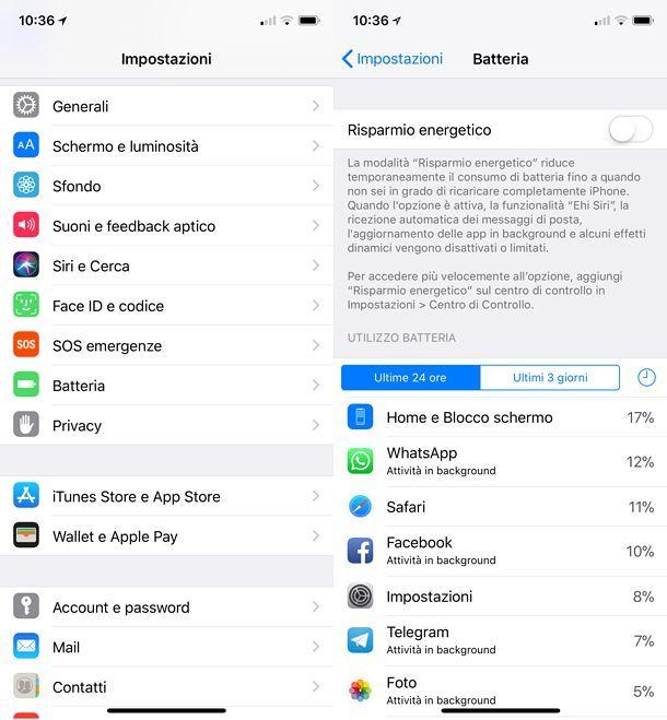 Gestione batteria iOS