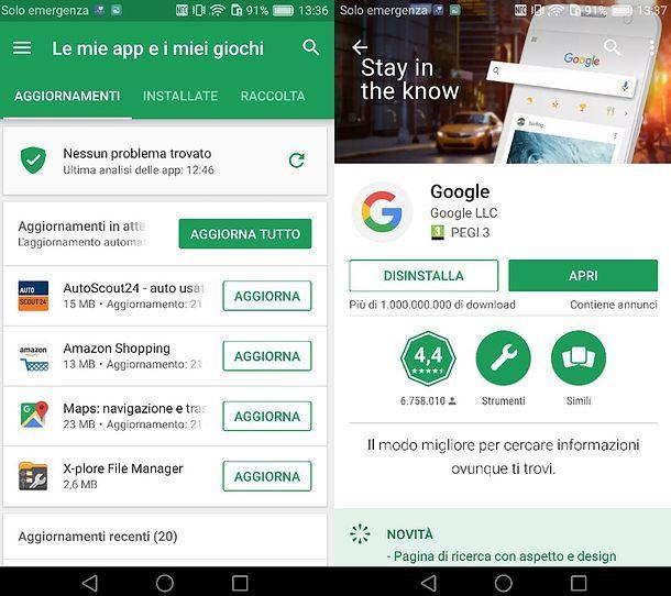 App Google su Play Store
