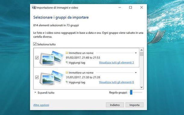Importare foto Huawei da Windows