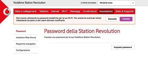 Configurazione Vodafone Station