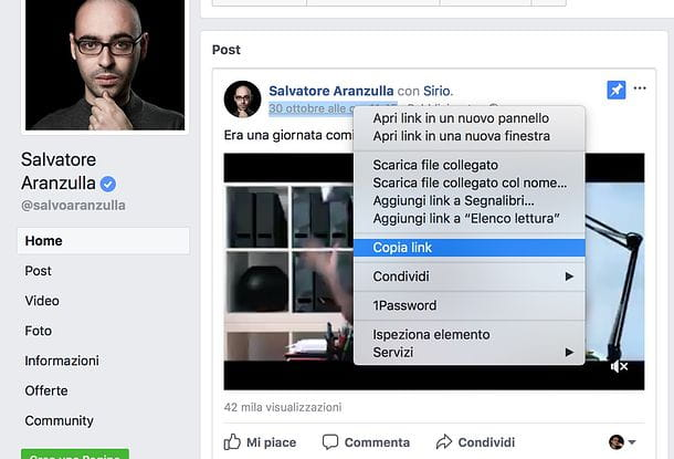 Come condividere un video da Facebook a WhatsApp