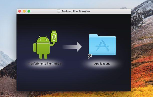 Trasferimento File Android su Mac