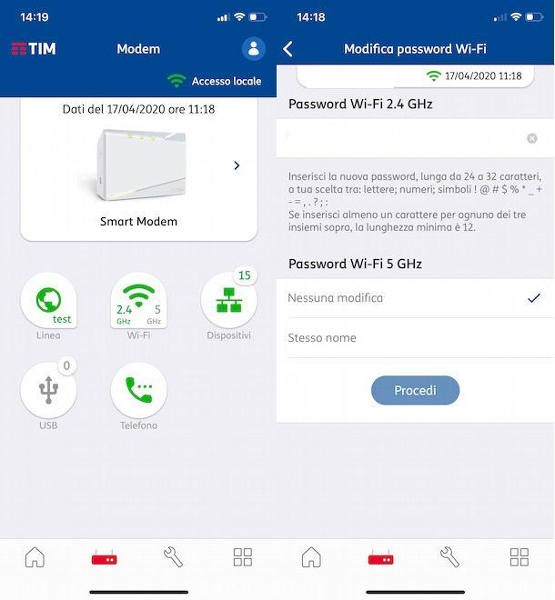 Come cambiare password modem TIM dal cellulare