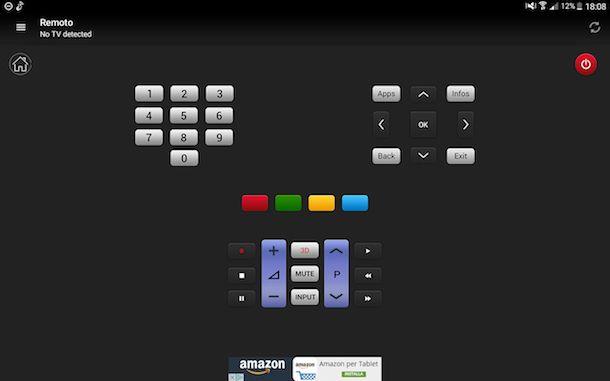App per cambiare canale alla TV