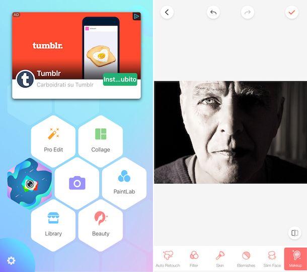 App per modificare foto viso