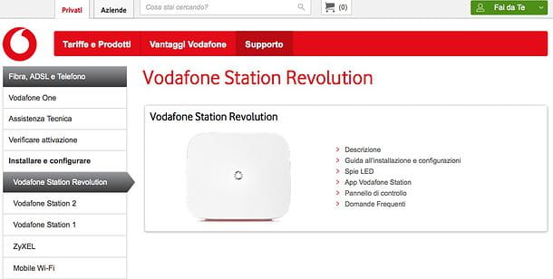 Impostazioni Vodafone Station Revolution
