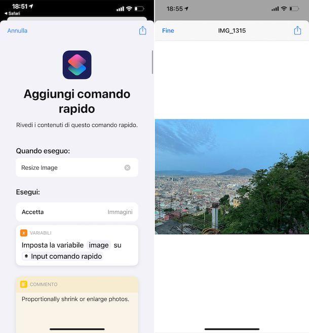 Resize Image Comandi iOS