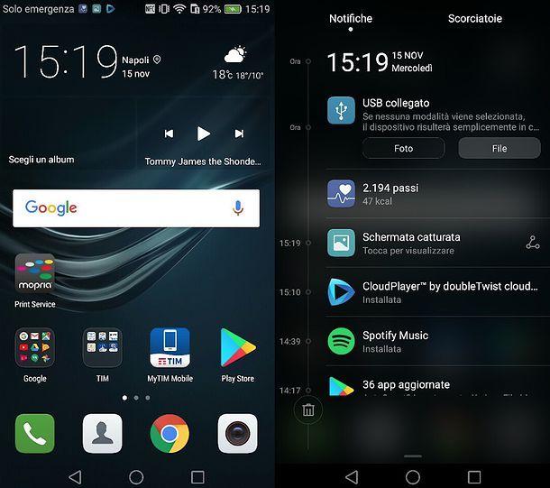 Impostazioni USB Android