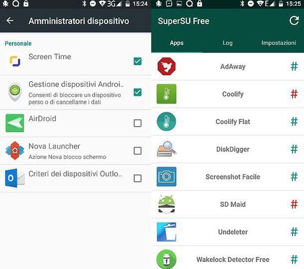 App con privilegi di amministratore