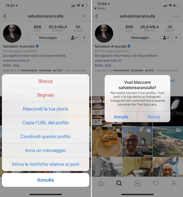 Come nascondere chi seguo su Instagram