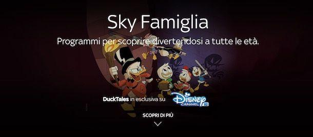 Pacchetti Sky