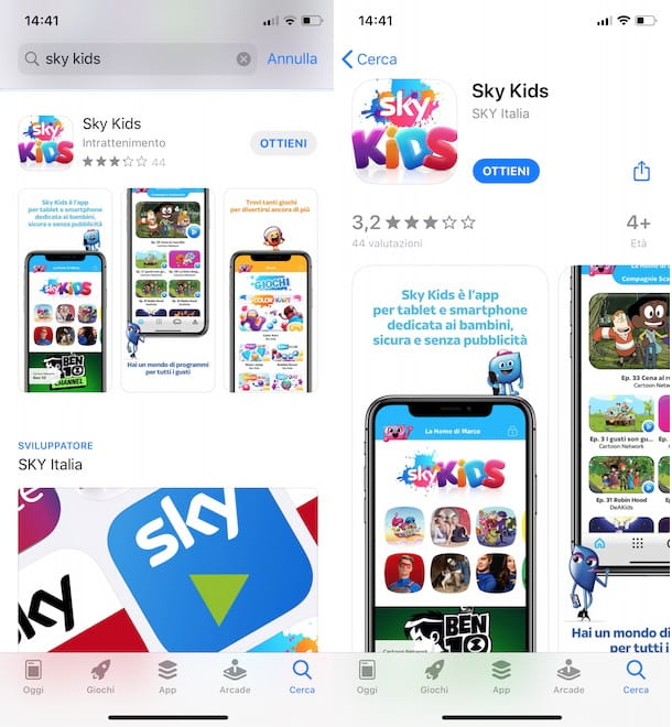 Scaricare e installare Sky Kids