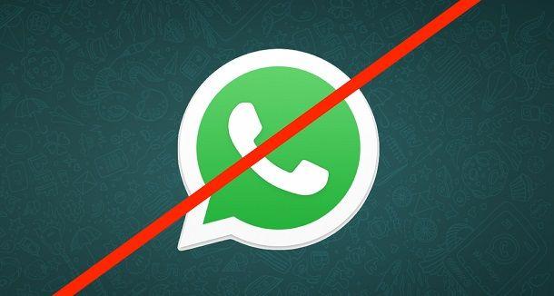 Icona di WhatsApp barrata
