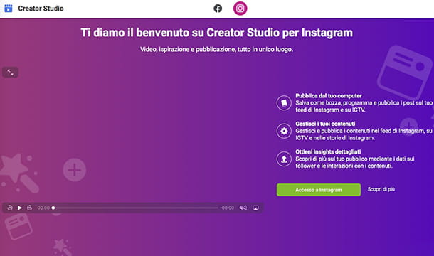 Come caricare video su Instagram con Creator Studio