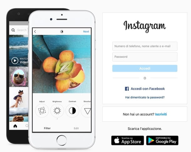 Accedere a Instagram