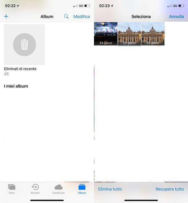 Come eliminare foto da iCloud
