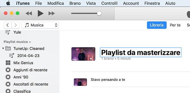 Playlist iTunes