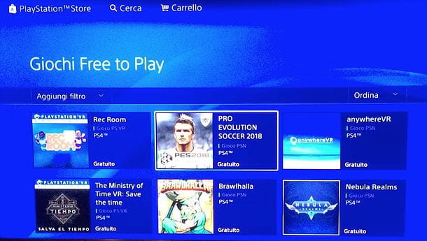 Giochi free to play per PS4
