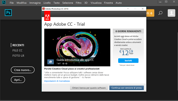 versione di prova photoshop cs5