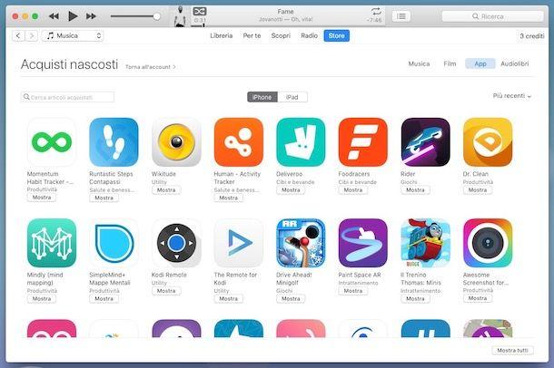 Come vedere tutte le app scaricate