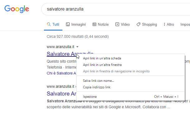 Come copiare un link da Google
