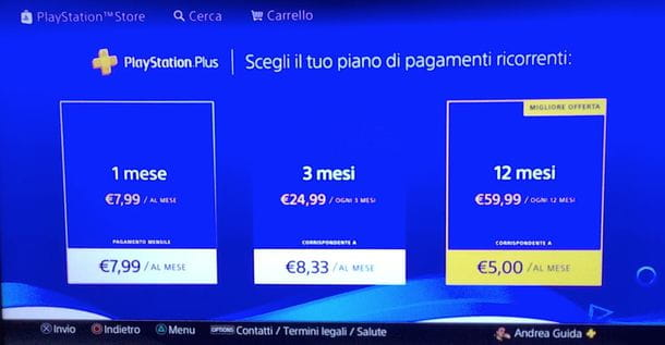 Piani PlayStation Plus