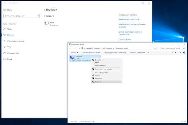 Come cambiare DNS Windows 10