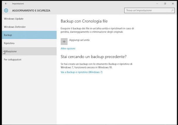 Backup Windows 10 - Cronologia File