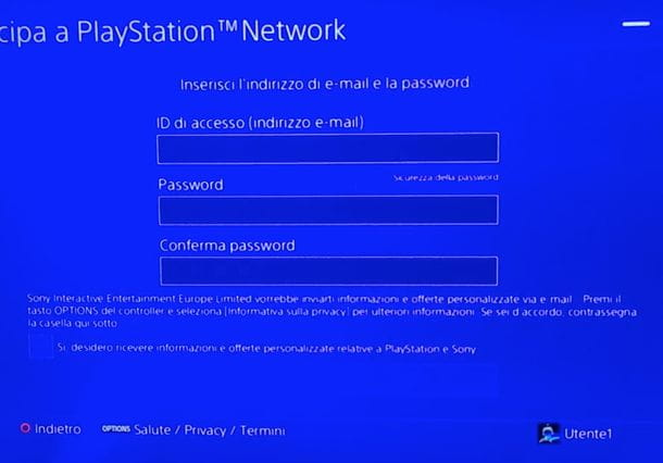 ID e password PSN