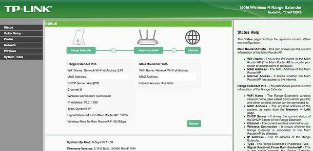 Stato TP Link extender