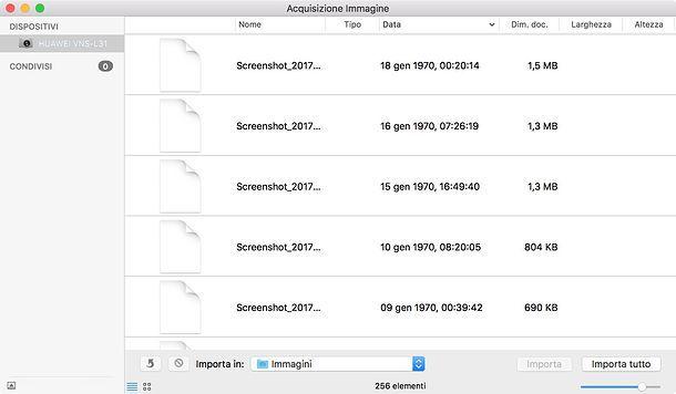 Acquisizione Immagine Mac
