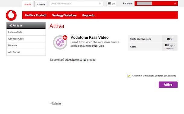 Come attivare Vodafone Pass
