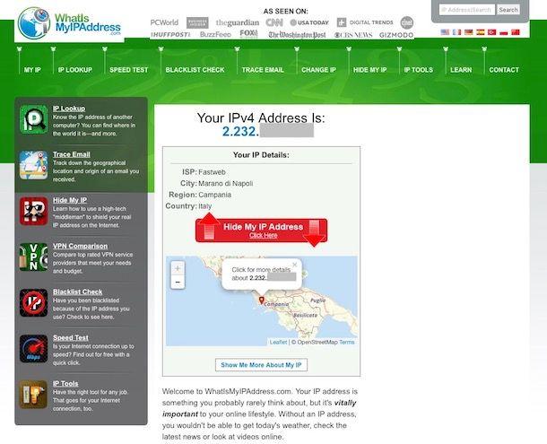 Come trovare indirizzo IP di una persona